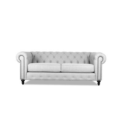Hanover Tufted 72 Chesterfield Sofa Upholstery: White