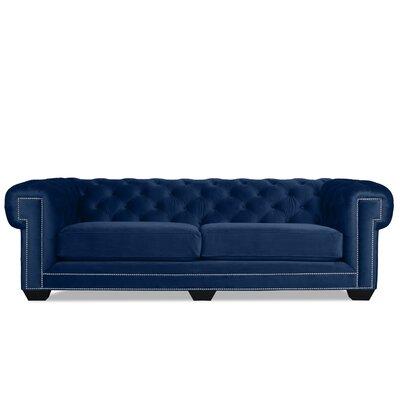 Alexander Chesterfield Sofa Upholstery: Blue Velvet