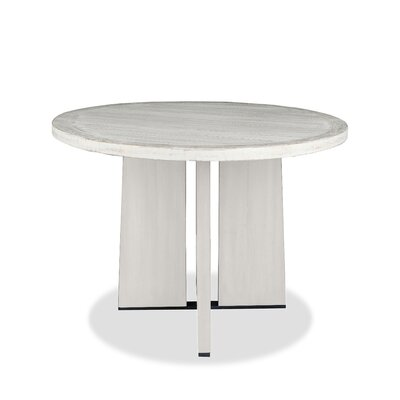 Ninette Pub Table Finish: Dry White, Size: 42 H x 48 L x 48 W