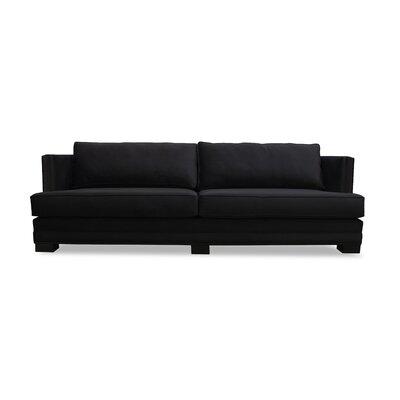 Calais Sofa 108 Upholstery: Black