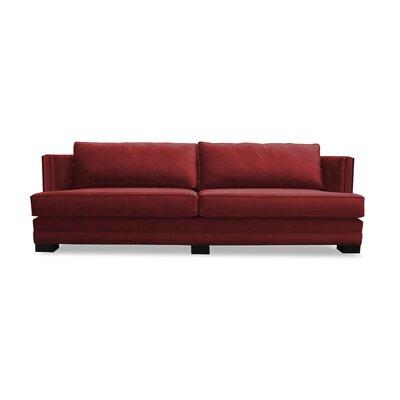 Calais Sofa 108 Upholstery: Red