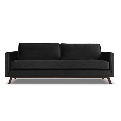 Wesley 60 Sofa Upholstery: Black