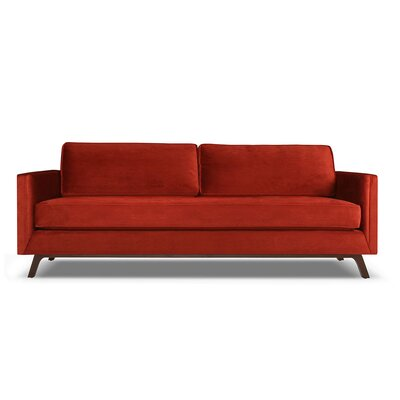 Wesley 60 Sofa Upholstery: Red