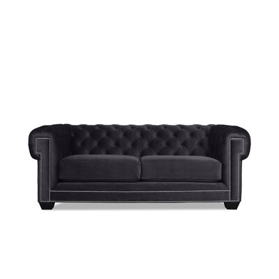Alexander Chesterfield Sofa Upholstery: Pewter