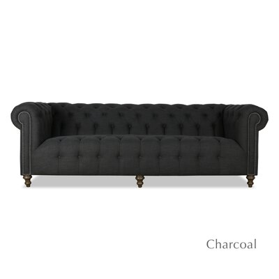 Arthur Tufted Sofa Upholstery: Charcoal