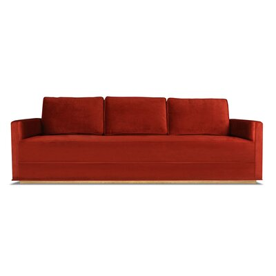Bert 72 Sofa Upholstery: Red
