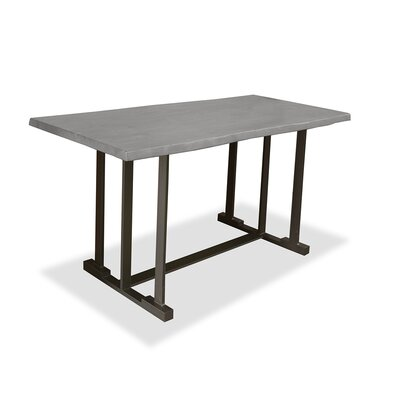 San Francisco Pub Table Top Finish: Dry Cement, Size: 42 inch H x 72 inch L x 40 inch W