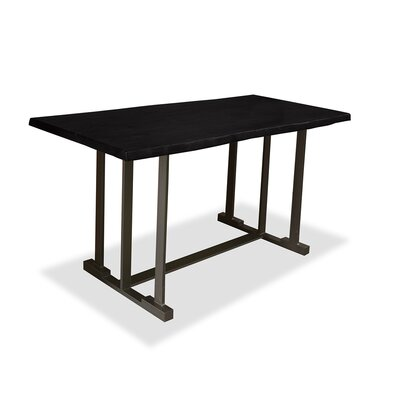 San Francisco Pub Table Top Color: Dry Espresso, Size: 42 H x 60 L x 40 W