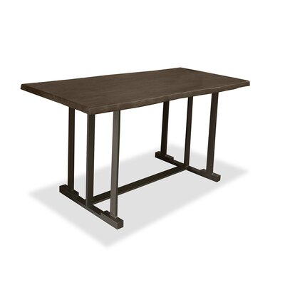 San Francisco Pub Table Top Color: Dry Smoke, Size: 42 H x 60 L x 40 W