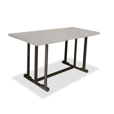 San Francisco Pub Table Top Color: Dry White, Size: 42 H x 60 L x 32 W