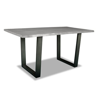 Prague Pub Table Top Finish: Dry Cement, Size: 42 H x 72 L x 40 W