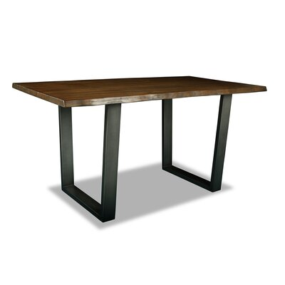 Prague Pub Table Top Color: Dry Cognac, Size: 42 H x 60 L x 32 W