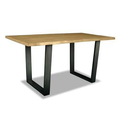 Prague Pub Table Top Color: Dry Maple, Size: 42 H x 72 L x 40 W