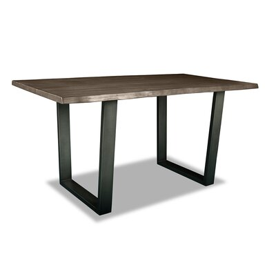 Prague Pub Table Top Color: Dry Smoke, Size: 42 H x 60 L x 32 W
