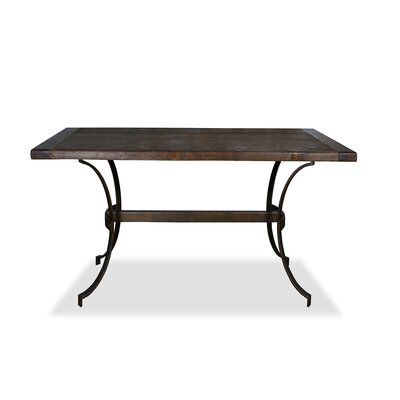 Santa Barbara Pub Table Top Color: Dry Cement, Size: 42 H x 60 L x 32 W