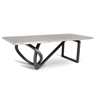 Milano Dining Table 96 Finish: White