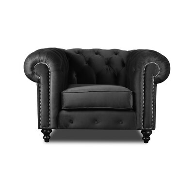 Hanover Chesterfield Chair Upholstery: Pewter