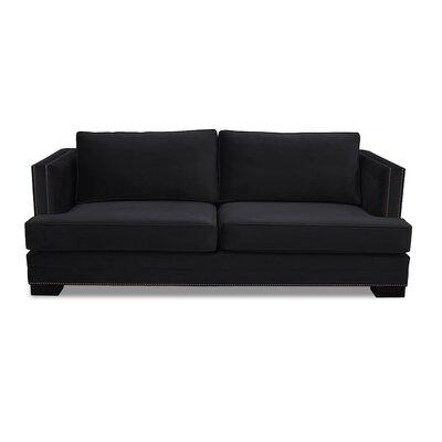 Calais 94 Sofa Upholstery: Black