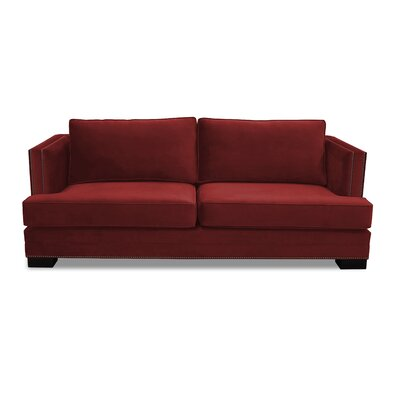 Calais 94 Sofa Upholstery: Red