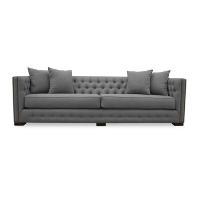 Bari 108 Chesterfield Sofa Upholstery: Grey