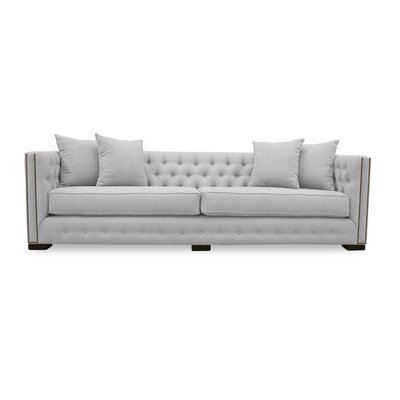 Bari 108 Chesterfield Sofa Upholstery: White