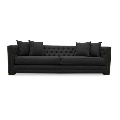 Bari 94 Chesterfield Sofa Upholstery: Charcoal
