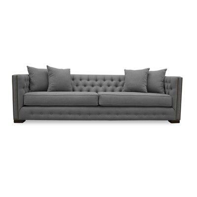 Bari 94 Chesterfield Sofa Upholstery: Grey