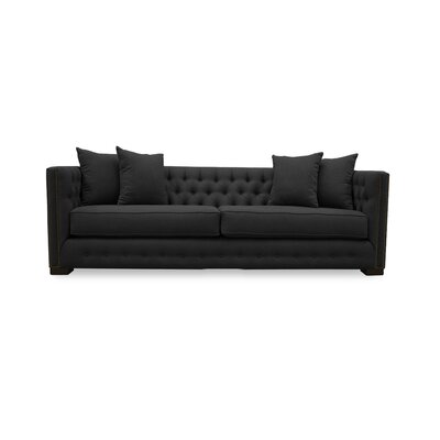 Bari 79 Chesterfield Sofa Upholstery: Charcoal