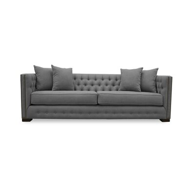 Bari 79 Chesterfield Sofa Upholstery: Grey