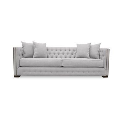 Bari 79 Chesterfield Sofa Upholstery: White