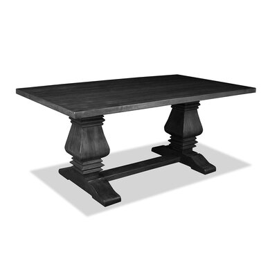 Gendreau Hardwood Dining Table Color: Dry Grey, Size: 84