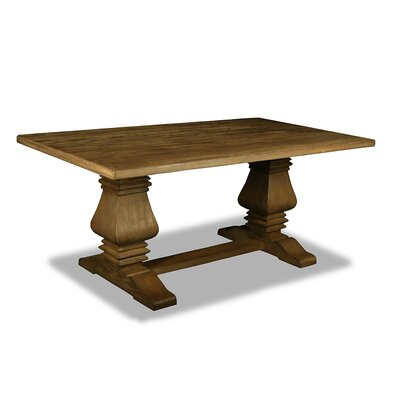 Gendreau Hardwood Dining Table Color: Dry Smoke, Size: 84