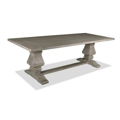 Gendreau Hardwood Dining Table Color: Dry Cement, Size: 96