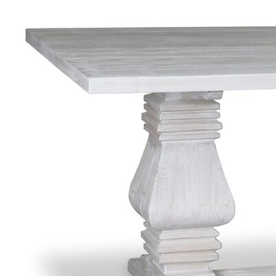 Oswaldo Reclaimed Hardwood Dining Table Finish: Dry White