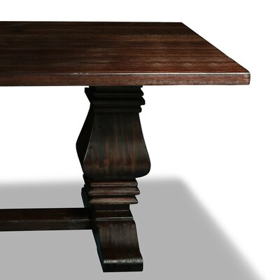 Oswaldo Rectangle Reclaimed Hardwood Dining Table Finish: Dry Cognac