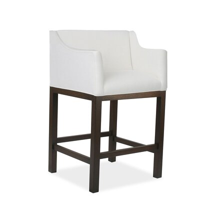 Auriville 26 Bar Stool Upholstery: White