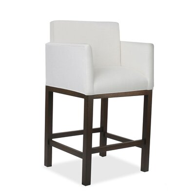 Hanshaw 30 Bar Stool Upholstery: White