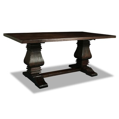 Oswaldo Rectangle Reclaimed Hardwood Dining Table Finish: Dry Walnut