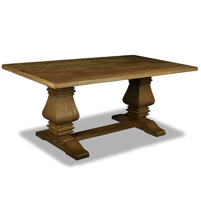 Oswaldo Rectangle Reclaimed Hardwood Dining Table Finish: Dry Smoke