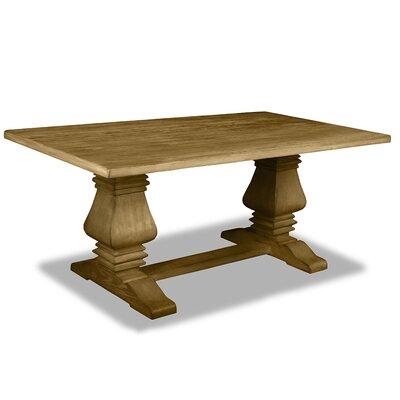Oswaldo Rectangle Reclaimed Hardwood Dining Table Finish: Dry Maple