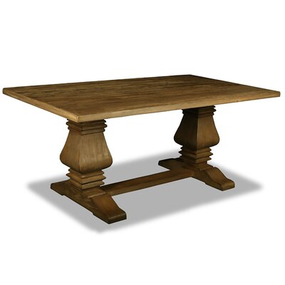 Oswaldo Reclaimed Hardwood Dining Table Finish: Dry Smoke