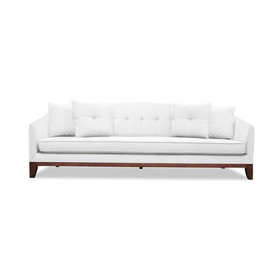 Roy 96 Sofa Upholstery: White