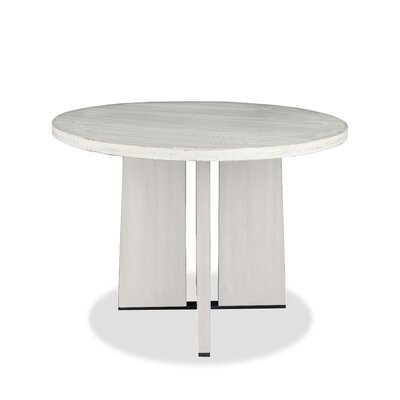 Ninette Pub Table Finish: Dry White, Size: 42 H x 42 L x 42 W