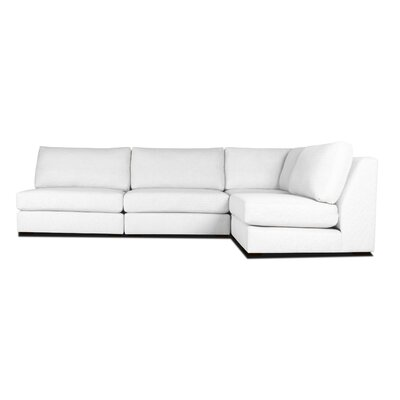 Glaude L-Shape Modular Sectional Upholstery: White