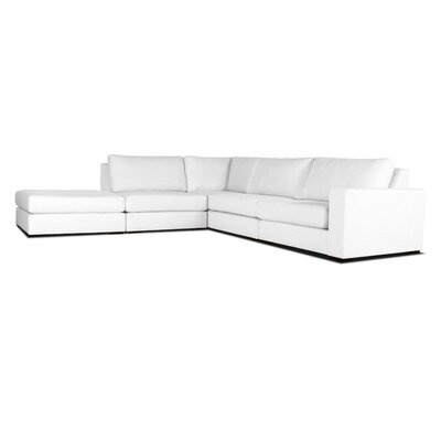 Brose L-Shape Modular Sectional Upholstery: White, Orientation: Right Hand Facing
