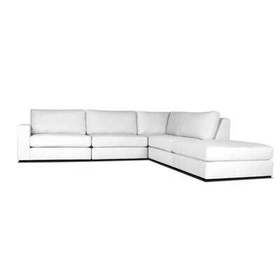 Brose L-Shape Modular Sectional Upholstery: White, Orientation: Left Hand Facing