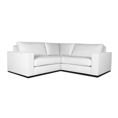 Brose L-Shape Wood Frame Modular Sectional Upholstery: White