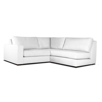Brose Modern L-Shape Upholstered Modular Sectional Upholstery: White, Orientation: Right Hand Facing