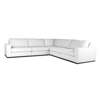 Brose Modern L-Shape Modular Sectional Upholstery: White