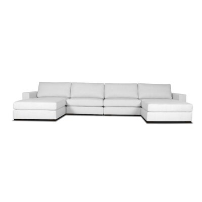 Brose U-Shape Modular Sectional Upholstery: White